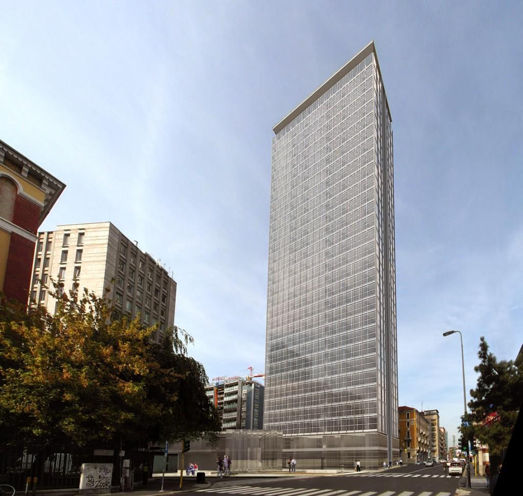 Torre galfa la rinascita di un 39 icona cellulebagno for Piani dell edificio per la colazione
